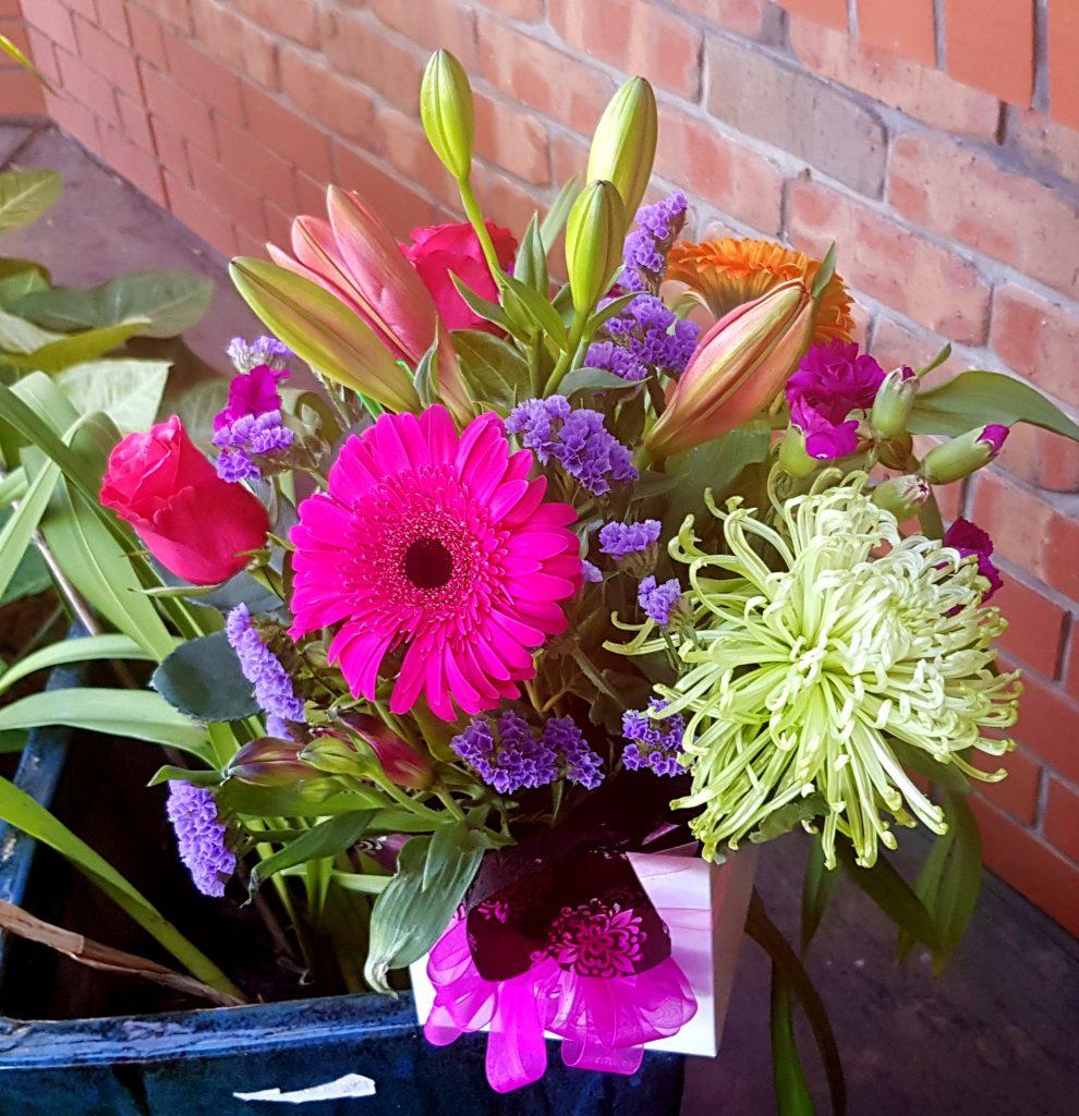 Celebratory flower delivery!